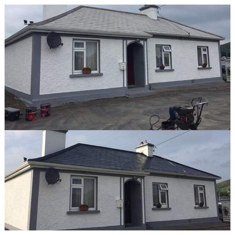 House roof painting before and after